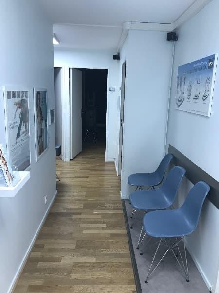 Salle d'attente du cabinet de podologie de Mme Pavlovic